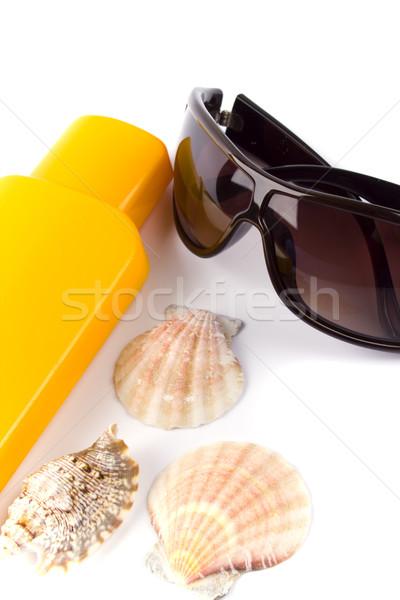 sunglasses and lotion Stock photo © marylooo