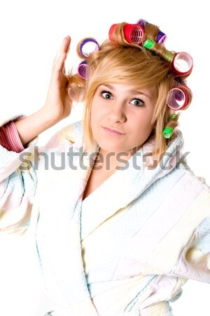 housewife with hairbrush Stock photo © marylooo
