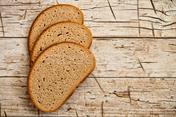 three slices of rye bread  Stock photo © marylooo