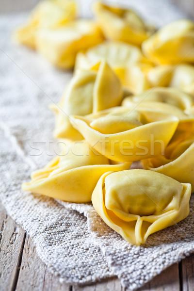 Stock photo: uncooked tortellini