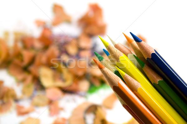 pensils over sawdust background Stock photo © marylooo