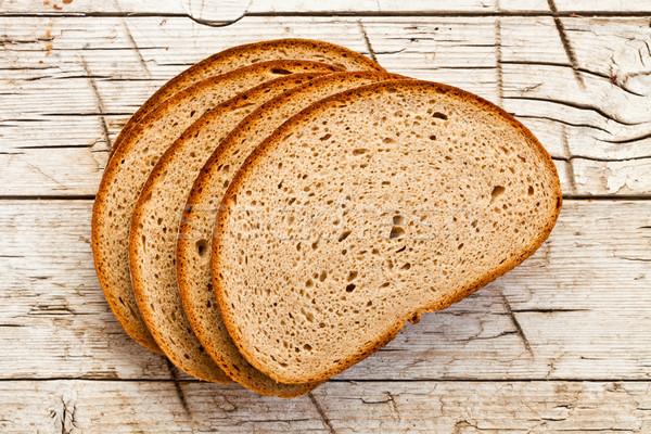 five slices of rye bread Stock photo © marylooo