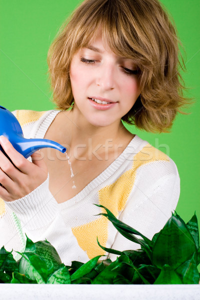 girl watering flowers  Stock photo © marylooo