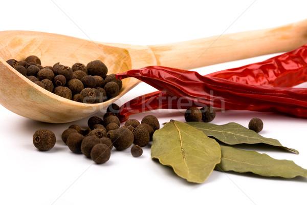 épices laisse poivre blanche Photo stock © marylooo