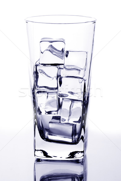 glass with ice cubes Stock photo © marylooo