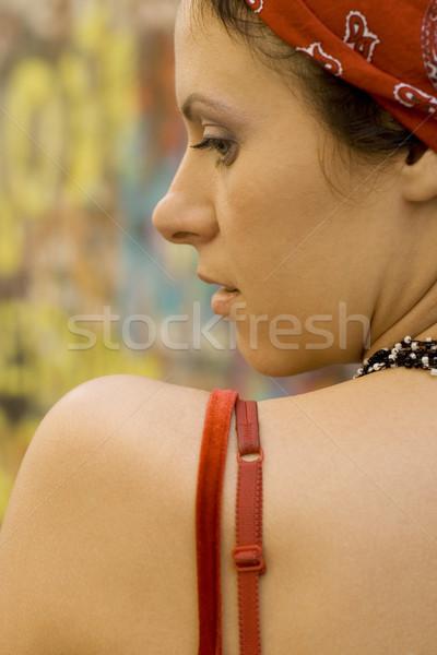 pretty brunet woman Stock photo © marylooo