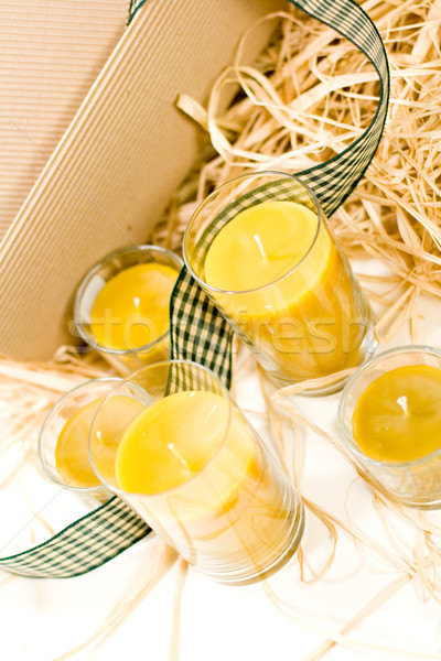 yellow candles Stock photo © marylooo
