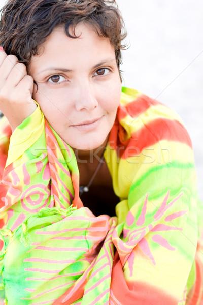 attractive brunet woman Stock photo © marylooo