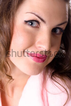 grimacing funny girl Stock photo © marylooo
