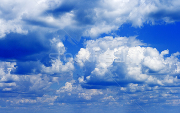 Stock photo: stormy clouds