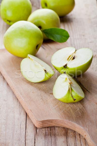 fresh green sliced apples  Stock photo © marylooo