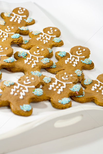 fresh baked gingerbread men cookies Stock photo © marylooo