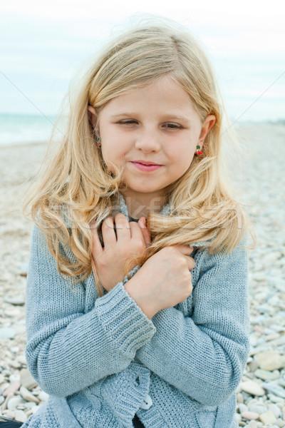 girl at the autumn beach  Stock photo © marylooo