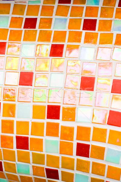 small orange tiles texture Stock photo © marylooo