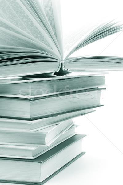 Kitaplar tek renkli görüntü kâğıt Stok fotoğraf © marylooo