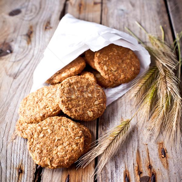 fresh crispy cereal cookies and ears Stock photo © marylooo