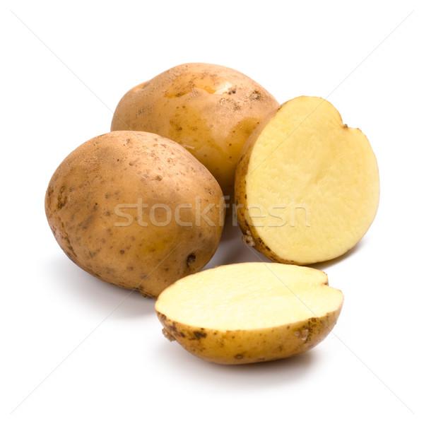 Pommes de terre isolé blanche fond couleur manger Photo stock © marylooo