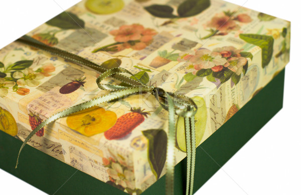 green gift box Stock photo © marylooo