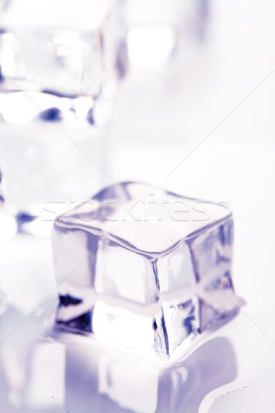 Olvad jégkocka makró kép fény ital Stock fotó © marylooo
