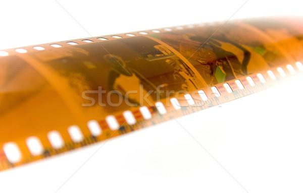 Negatív akta izolált fehér film háttér Stock fotó © marylooo