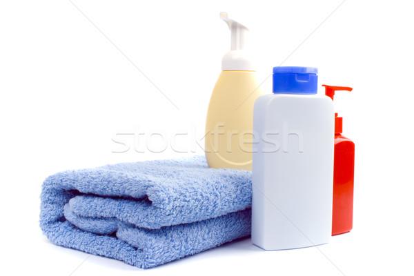 Körper Pflege Produkte Handtuch weiß Schönheit Stock foto © marylooo
