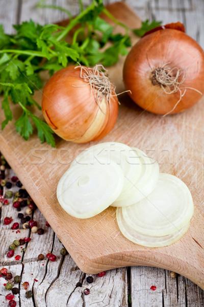 fresh onions, parsley and peppercorns  Stock photo © marylooo