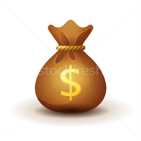 money bag - realistic style Stock photo © MarySan