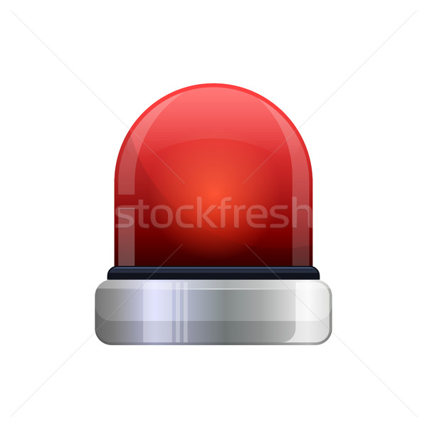 vector illustration of red flashing emergency light Stock photo © MarySan