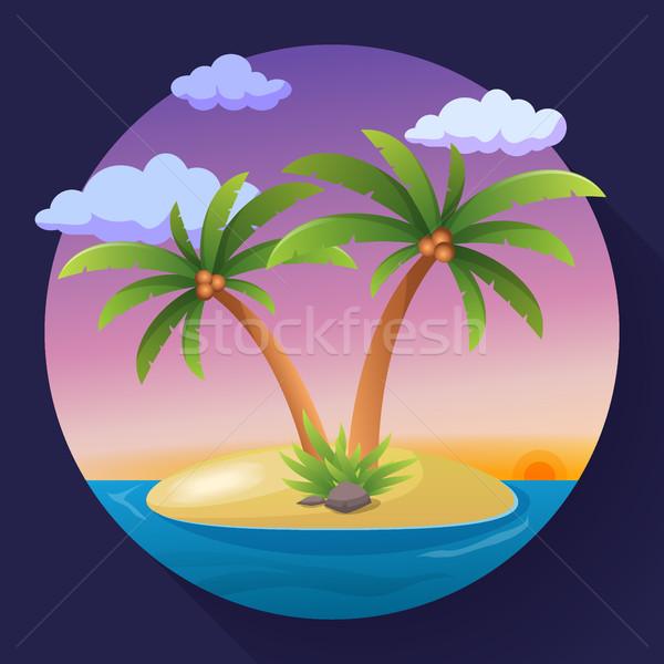 Vacaciones de verano vacaciones tropicales océano isla palmera Foto stock © MarySan