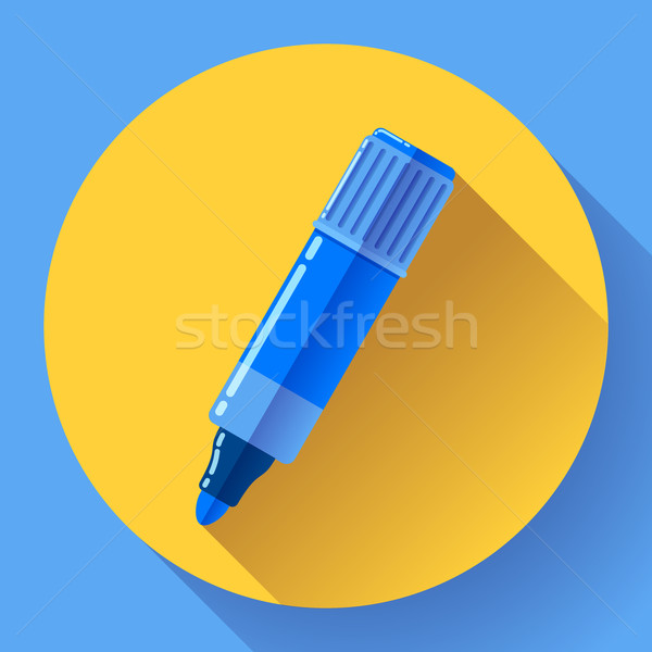 Highlighter icon in flat style with long shadow Stock photo © MarySan
