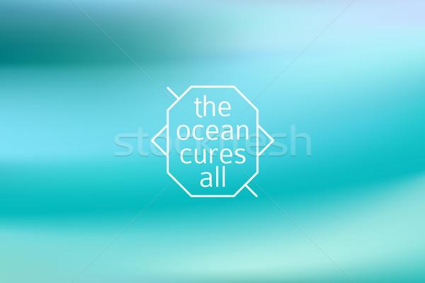 Water blurred background Stock photo © MarySan