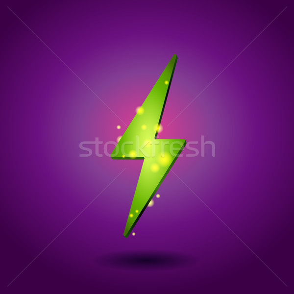 Elektriciteit icon groene energie symbool eco Stockfoto © MarySan