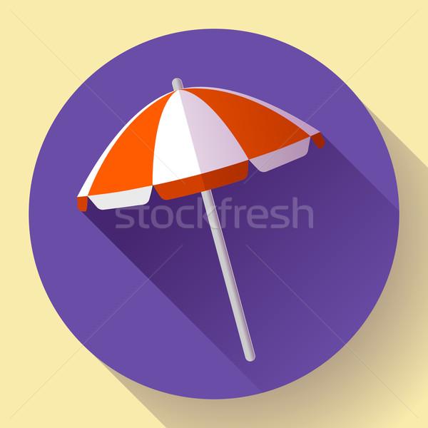 Guarda-sol topo ver ícone vetor projeto Foto stock © MarySan