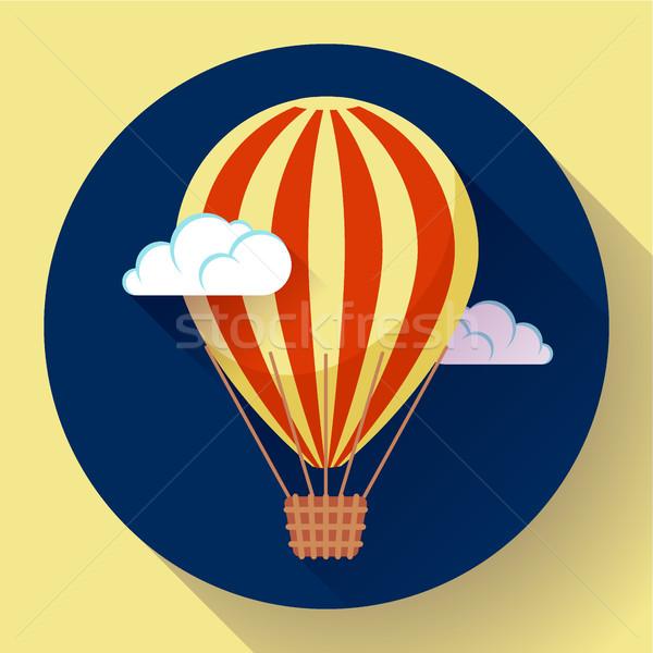 воздушном шаре икона небе вектора облака бумаги Сток-фото © MarySan