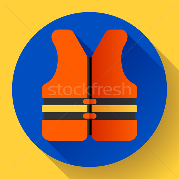 life safety jacket vest icon flat 2.0 vector Stock photo © MarySan