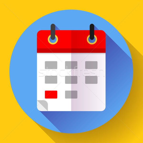 Kalender icon 20 ontwerp stijl business Stockfoto © MarySan