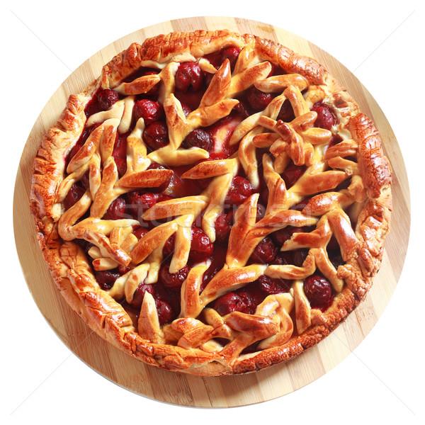 Delicious homemade cherry pie Stock photo © MarySan