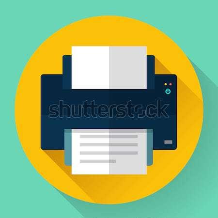 Drukarki ikona projektu stylu działalności papieru Zdjęcia stock © MarySan