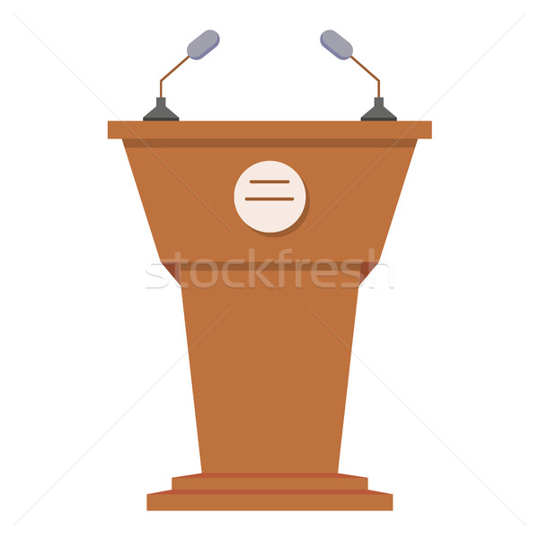 Tribune or rostrum flat icon Stock photo © MarySan