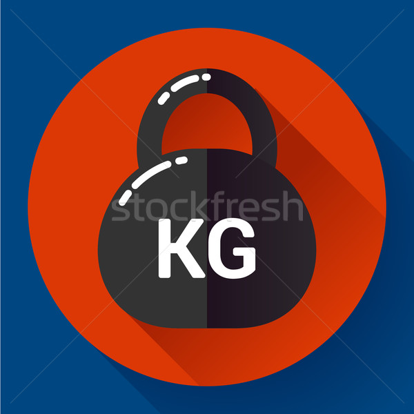 Weight Icon in trendy flat style. Sport fitness app symbol Stock photo © MarySan