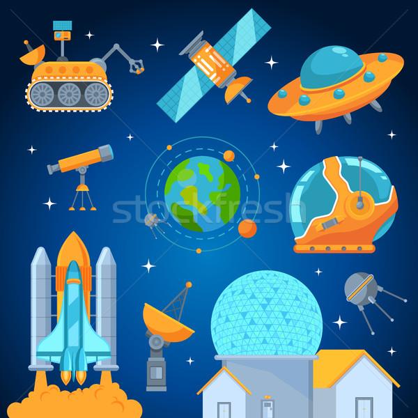 ストックフォト: スペース · スタイル · ベクトル · ロケット
