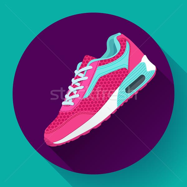 Uygunluk ayakkabı eğitim çalışma ayakkabı Stok fotoğraf © MarySan