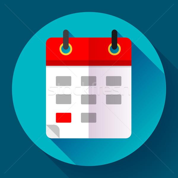 Calendar icon, vector illustration. Flat 2.0 design style. Stock photo © MarySan