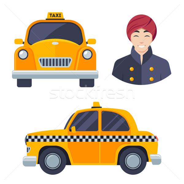 Indiano táxi carro motorista estrada Foto stock © MarySan