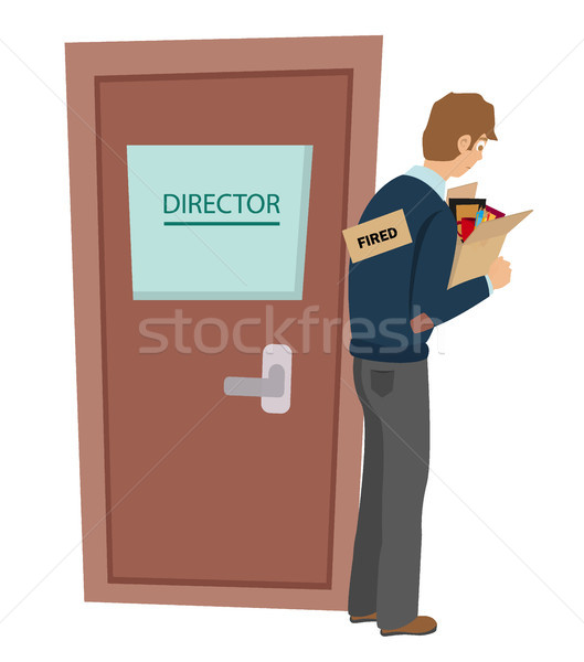 Getting fired flat vector illustration. Dismissed, loss job. Stock photo © MarySan