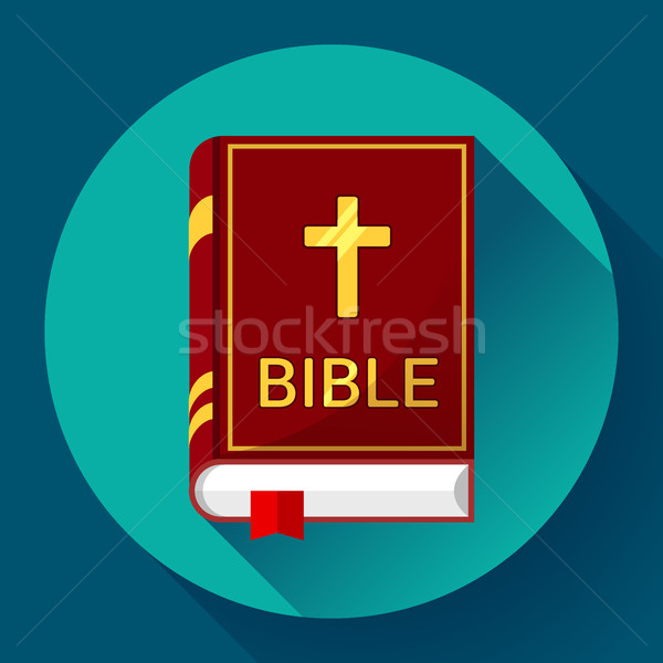 bible icon with long shadow Stock photo © MarySan