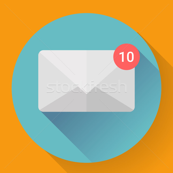 Mail Icon With Notification Stock photo © MarySan