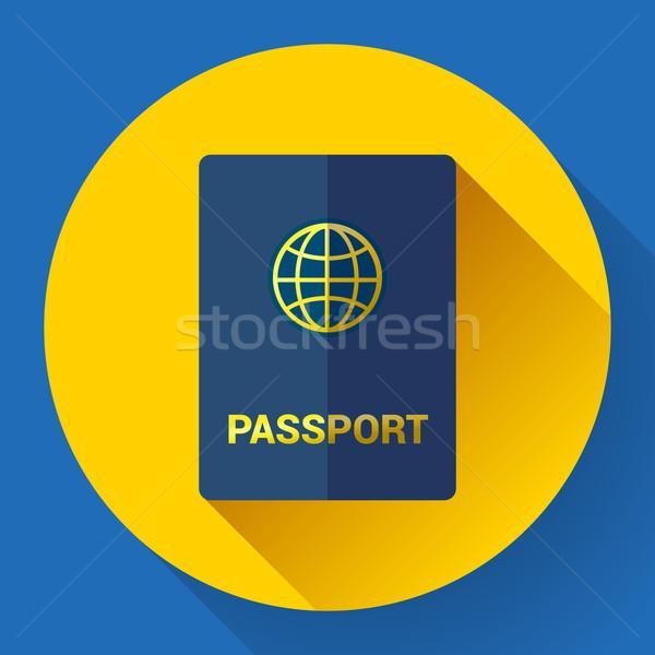 паспорта икона дизайна стиль фон знак Сток-фото © MarySan