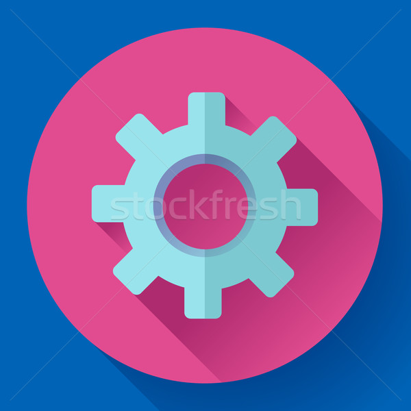 Cogwheel Icon. Develop symbol. Flat design style Stock photo © MarySan