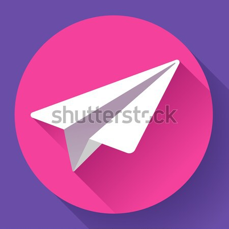 Aircraft vector logo icon Flat 2.0 design style Stock photo © MarySan